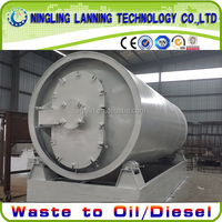 Automatic used plastic recycling pyrolysis plant wiht high output FOR SALE