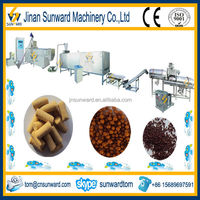 Small production floating fish fodder pellet product line
