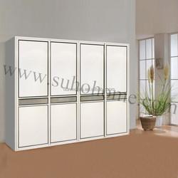 2015 PVC Coating sliding Door /PVC Wood wardrobe Door
