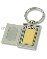 customized metal keychain with paling nickel/silver