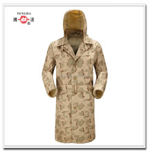 PVC camouflage adult rain coat for military