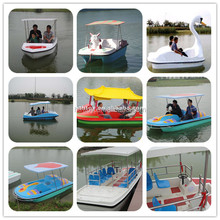 Popular summer family fun water pedal boat with China Pavilion roof