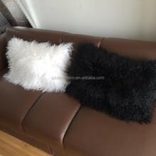 Colorful Tibetan Sheepskin Cushion Cover Long Hair japanese body pillows