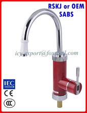 Hot cold instant water mixer tap