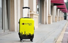Hot sale lightweight ABS/PC luggage /print trolly travel bag