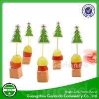 Christmas festival theme cocktail flag food flag toothpicks