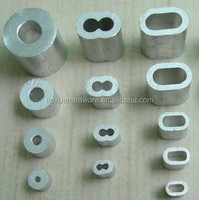 8 Shape Aluminum Oval Sleeves & Stops, Aluminium ferrules rigging hardware