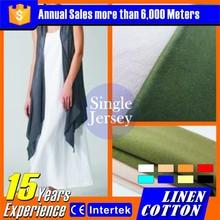2015 Pop moda lino de algodón hecho punto tela europea ropa venta al por mayor