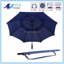 High quanlity straight double layer windproof golf umbrella