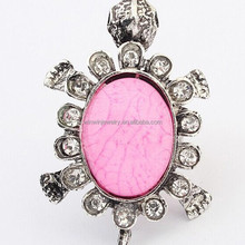 Retro style fashion ladies finger ring cute tortoise ring resin ring