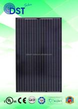 240W 250W 260W 60 cells TUV/MCS/UL/CEC/JET Taiwan Black Poly Solar Module/Solar Panel