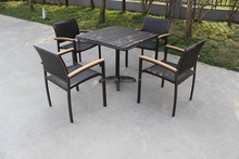 Rattan dining table and chairs outdoor used garden furniture