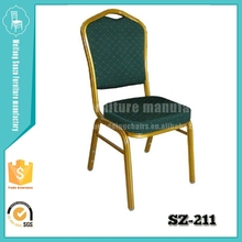 2015 SUNZO wholesale stacking iron banquet chair SZ-211