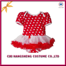 Newest Arrival Valentine Day Inspired red dress white dots Lovely child tutu dress
