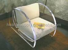 comfortable acrylic sofa with big cushion