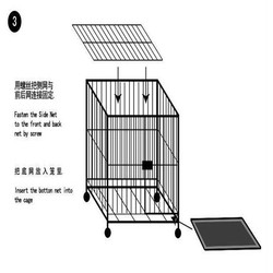 Powder Coated Iron Wire Large Dog Cages For Sale ,Cheap Dog Cage