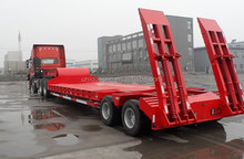 long service life 35 tons/leaf spring suspension low bed trailer