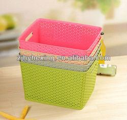 colorful Plastic storage box plastic basket