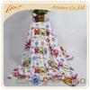 Flower printed coral fleece fabric throw blanket