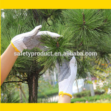 High Quality PVC Dotted Cotton Glove PVC Dotted Glove Comfort Grip Gloves With PVC Dots