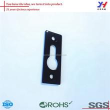 OEM ODM high quality precision black coatedf aluminum keyhole mounting brackets