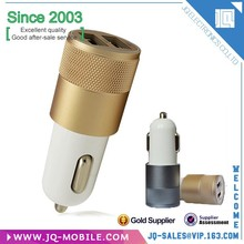 Made By Metal Bullet Shape Dual USB Ports Universal Car Charger For Android&IOS
