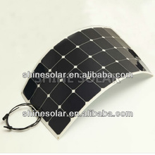 100W flexible monocrystalline solar panel, slim light solar panel for outdoor Car and Boats charger