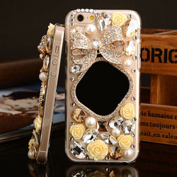 Cellphone Accessories,Luxury Fashion Bling Diamond Mirrior Case for iPhone 6 plus