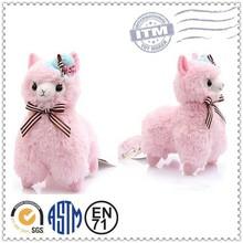 Custom cheap plush material soft alpaca stuffed animal