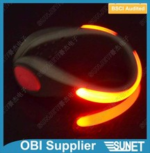 China manufacturer plastic multicolored led light band for shoes--OBI supplier