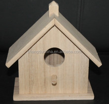 small handemade decorative wood craft bird house model wholesale