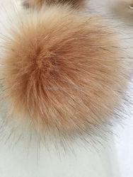 Fashion Charm faux fox Fur pom poms ball for keychain/ handbag pendant