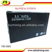 USB2.0 3.5'' SATA hard drive protective case with BIG PCB