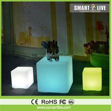 40x40x40cm RGB Color Change Night Club & Party &garden decorative LED Cube light chair