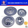 Double row diamond cup wheel using high frequency welding technology for European market