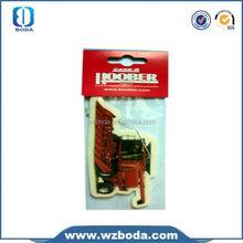 Fresh air/remove odor custom made paper car freshener for car/home/office/toilet