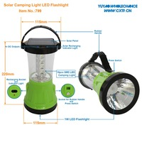 Portable Rechargeable 1W LED Search Flashlight Solar Camping Light