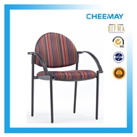 Classical four-legged chair with polypropylene armrests conference chair