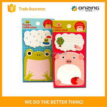 Onzing good quality pink peach shaped fruit sticky notes