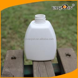 Square White Dishwashing Detergent Plastic Bottle With Screw Cap