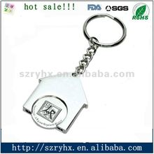 2012 fashionable metal keyrings for promotion