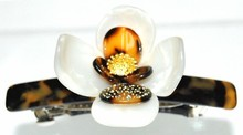 Stylish jewelry ornaments tea flower style barrettes hair clips