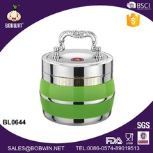 Big Capacity 1.8L Stainless Steel Food Carrier