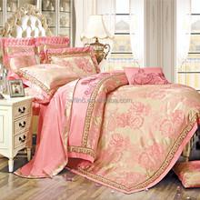 jacquard satin home textile color comforter sets california king
