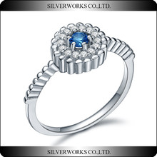 New Design Jewelry Ring Wholesale Unique 925 Sterling Silver Stack Ring with Cubic Zircon