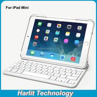 Ultra Stylish Folio Wireless Bluetooth Keyboard For iPad mini 4 Magnetic Bluetooth Keyboard Case For Apple iPad Mini 4