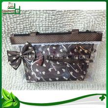 trendy transparent pvc cosmetic bag set pvc make up bag set with handle