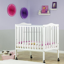 White simple degisn baby cots standard size baby folding cots baby cots