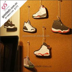 Guangzhou factory wholesale hot latest design sneakers paper car air freshener
