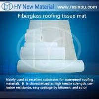 Glass fiber mat for roofing